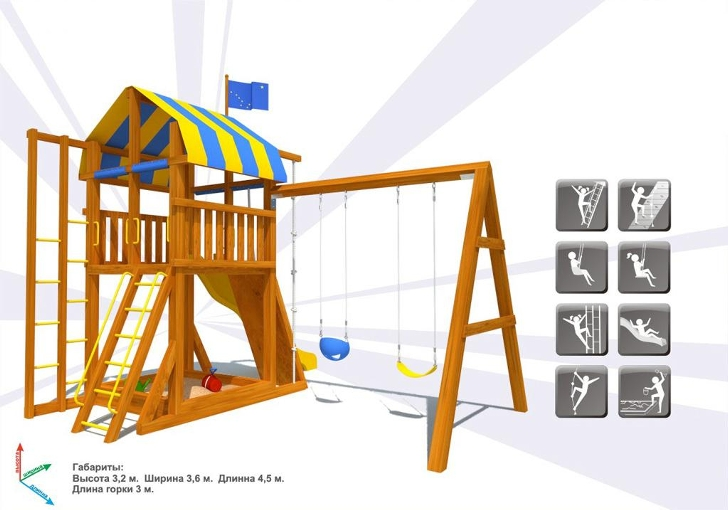 Детский городок для дачи чертежи
