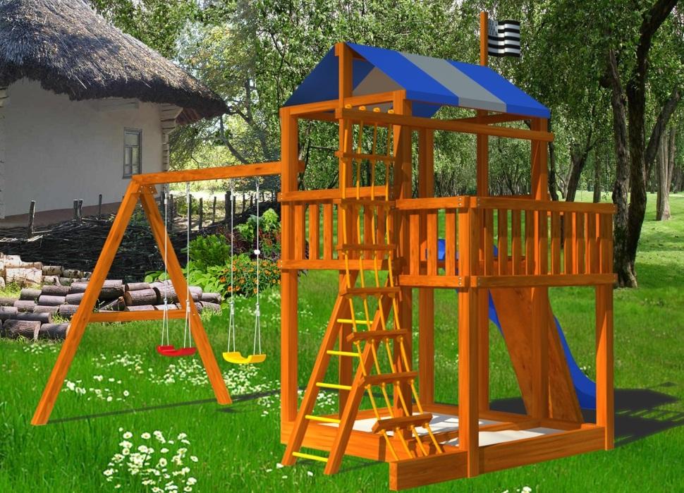Проект детской площадки для дачи своими руками фото 8